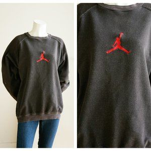 Vintage Nike Jumpman Slate Grey Cotton Pullover
